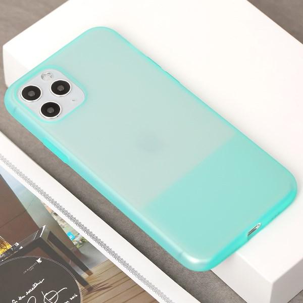Ốp lưng iPhone 11 Pro nhựa dẻo CONTRAST SILICONE JM Mint
