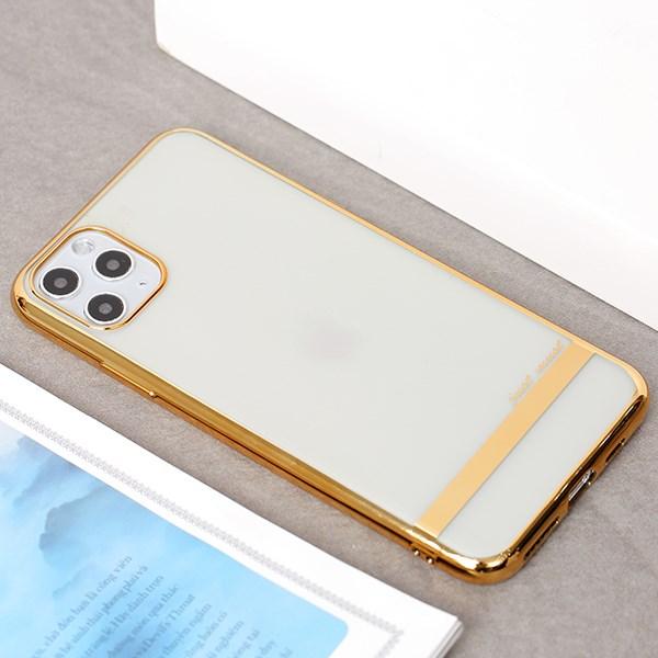 Ốp lưng iPhone 11 Pro Max nhựa dẻo Electro Tpu Pattern JM Gold