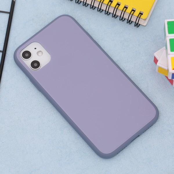 Ốp lưng iPhone 11 nhựa cứng viền dẻo Tempered Glass silk OSMIA Lavender