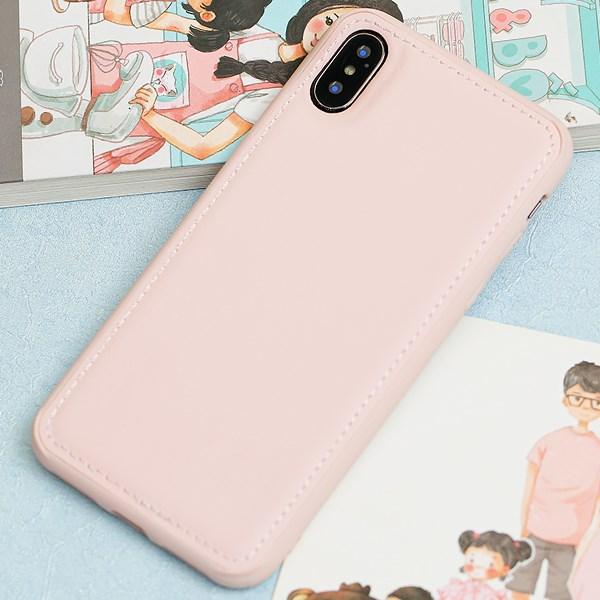 Ốp lưng iPhone X/Xs nhựa cứng viền dẻo PU Candy OSMIA Hồng