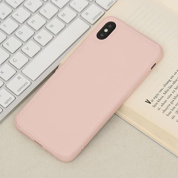 Ốp lưng iPhone Xs Max nhựa cứng viền dẻo PU Candy OSMIA Hồng