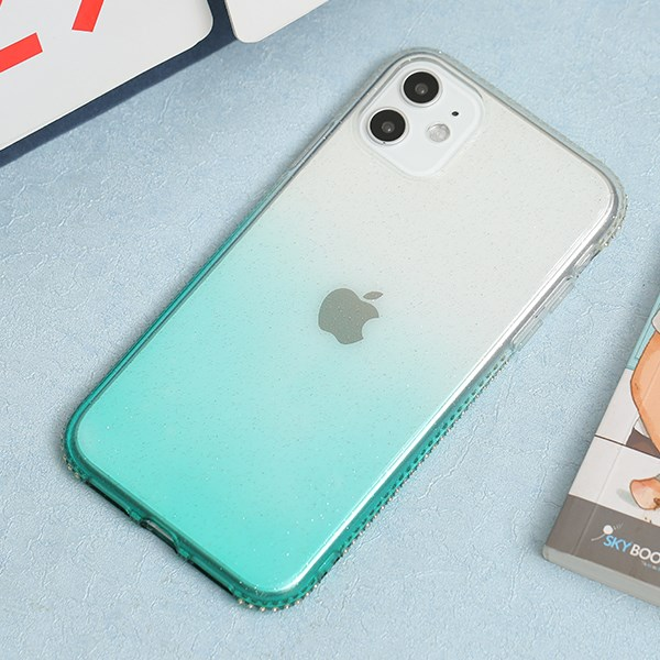 Ốp lưng iPhone 11 nhựa dẻo Shining Diamond OSMIA Xanh