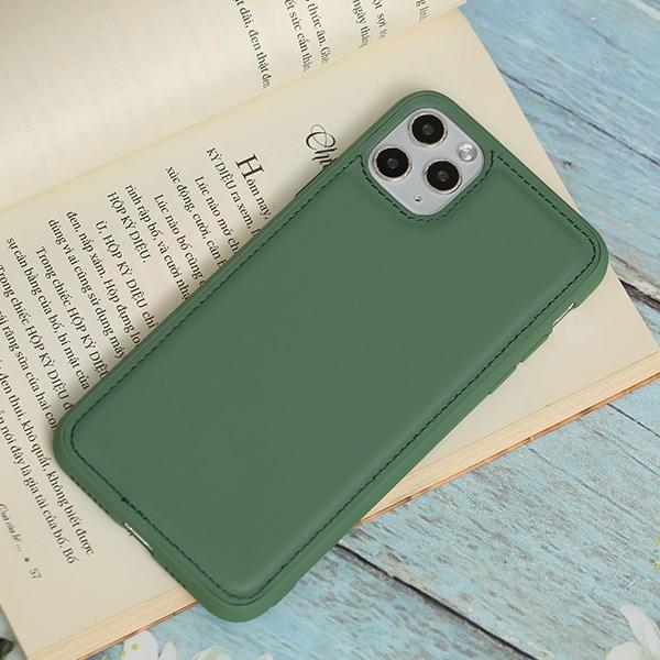 Ốp lưng iPhone 11 Pro Max nhựa cứng viền dẻo PU Candy OSMIA Xanh