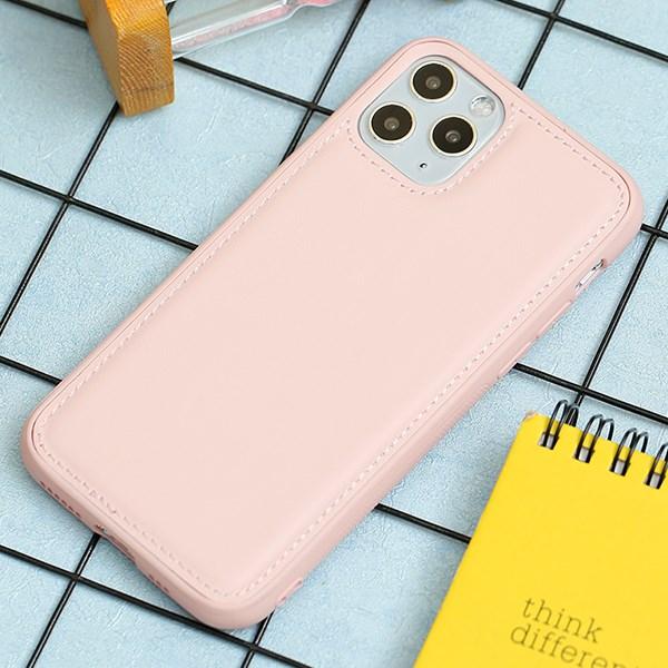 Ốp lưng iPhone 11 Pro nhựa cứng viền dẻo PU Candy OSMIA Hồng