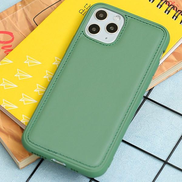 Ốp lưng iPhone 11 Pro nhựa cứng viền dẻo PU Candy OSMIA Xanh