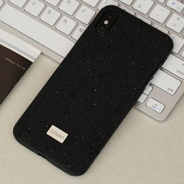 Ốp lưng iPhone Xs Max nhựa dẻo Crystal TPU case COSANO Đen