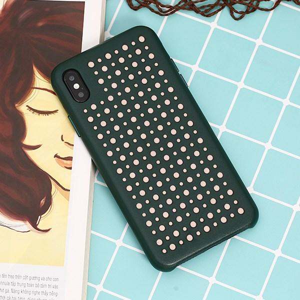 Ốp lưng iPhone Xs Max nhựa dẻo Color Hole PU COSANO Xanh lá