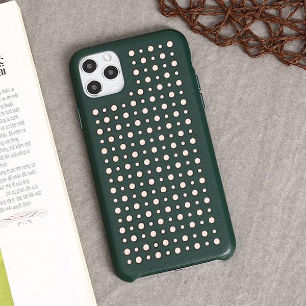 Ốp lưng iPhone 11 Pro Max nhựa dẻo Color Hole PU COSANO Xanh lá