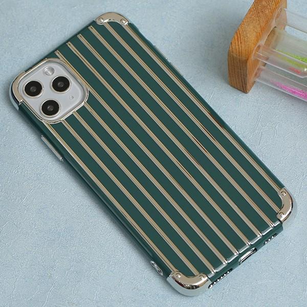 Ốp iPhone 11 Pro Max nhựa dẻo Electroplating Luggage Case COSANO Xanh