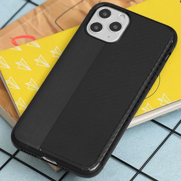 Ốp lưng iPhone 11 Pro nhựa dẻo Carbon Mix OSMIA Đen Xám