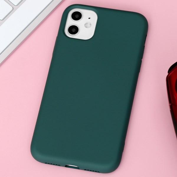 Ốp lưng iPhone 11 Nhựa dẻo Artifical silicon case MEEKER Xanh rừng thẳm