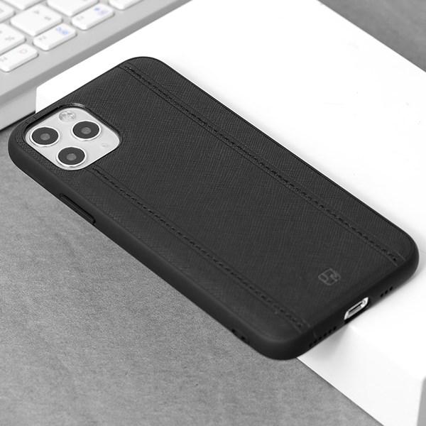Ốp lưng iPhone 11 Pro Nhựa dẻo Bistich case JM Đen