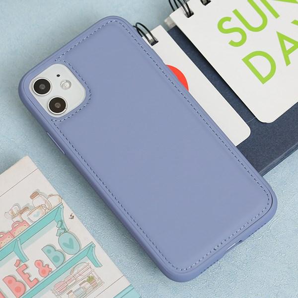 Ốp lưng iPhone 11 nhựa cứng viền dẻo PU Candy OSMIA Lavender