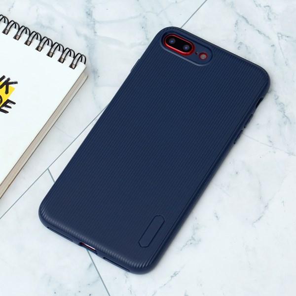 Ốp lưng iPhone 7 Plus/ 8 Plus nhựa dẻo Line Pattern TPU COSANO Navy