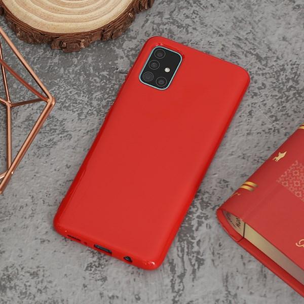 Ốp lưng Galaxy A51/A31 Nhựa dẻo NEW JELLY JM Đỏ