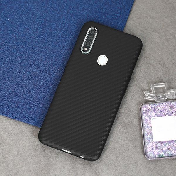 Ốp lưng Oppo A31 nhựa dẻo Carbon Fibre TPU COSANO Đen