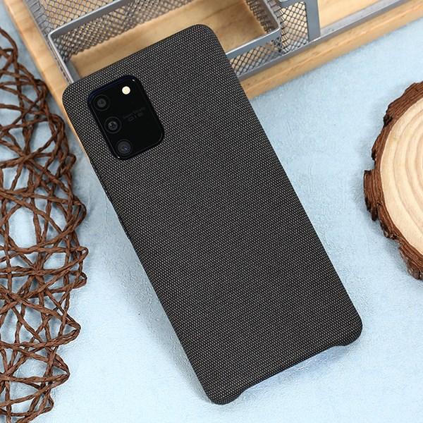 Ốp lưng Galaxy S10 Lite nhựa dẻo Fiber PU Case COSANO Xám