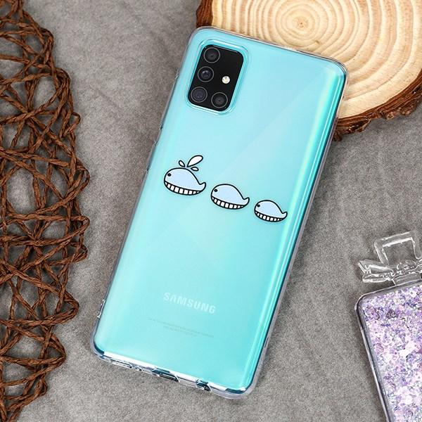 Ốp lưng Galaxy A31/A51 nhựa dẻo TPU Transparent Printing COSANO CSP861 Cá voi xanh