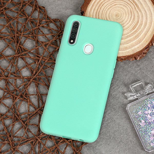 Ốp lưng Oppo A31 nhựa dẻo Silicone Felt Cover COSANO Mint
