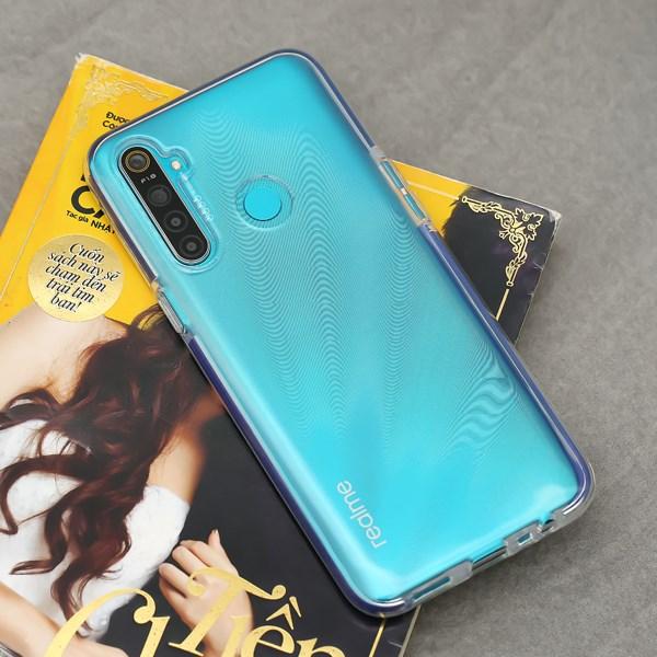 Ốp lưng Realme 5s/5i/c3/6i nhựa dẻo Line Side TPU COSANO Xanh đậm