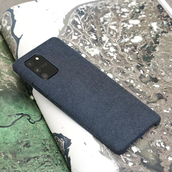 Ốp lưng Galaxy S10 Lite nhựa dẻo Fiber PU Case COSANO Navy