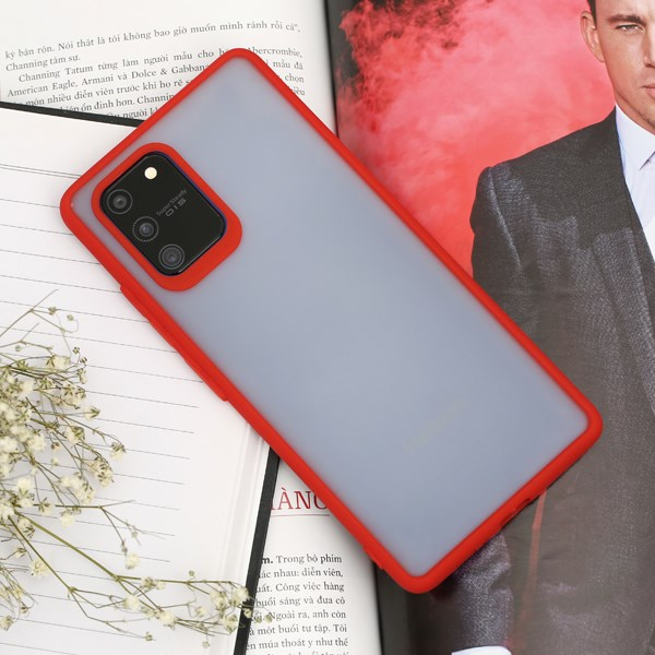 Ốp lưng Galaxy S10 Lite nhựa dẻo TPU PC Double Phone Case COSANO Đỏ