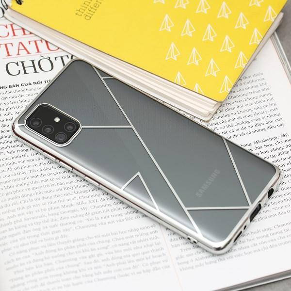 Ốp lưng Galaxy A31/A51 nhựa dẻo TPU Electroplating Net COSANO Bạc