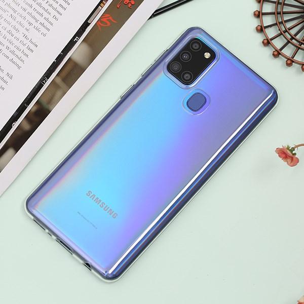 Ốp lưng Galaxy A21S Nhựa dẻo Nake slim JM TPU Nude