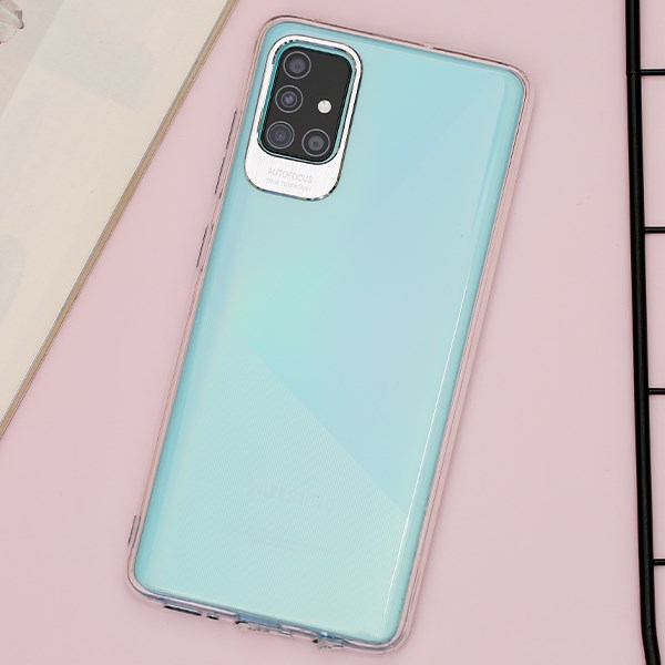 Ốp lưng Galaxy A51/A31 Nhựa dẻo Metalic MEEKER Silver