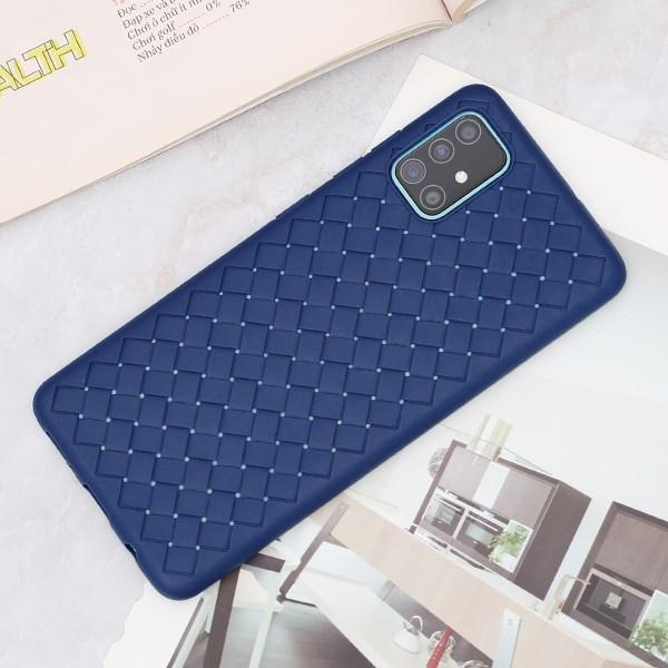 Ốp lưng Galaxy A51/A31 nhựa dẻo Woven OSMIA Navy
