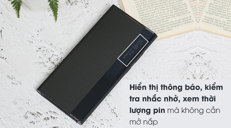 Bao da Galaxy Note 20 Samsung Nắp gập Clear View Đen - Hiển thị thông báo