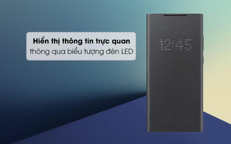 Bao da Galaxy Note 20 Ultra Samsung Nắp gập LED View Đen - Thông báo