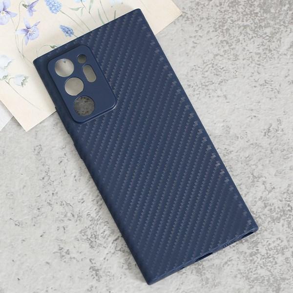 Ốp lưng Galaxy Note 20 Ultra nhựa dẻo Carbon Fibre TPU COSANO Navy