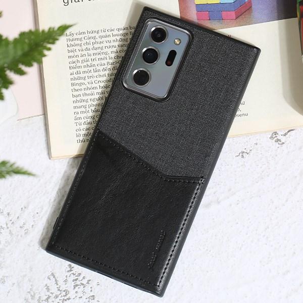 Ốp lưng Galaxy Note 20 Ultra Nhựa cứng viền dẻo V Pocket II JM Đen