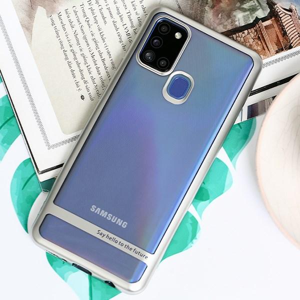 Ốp lưng Galaxy A21s Nhựa dẻo TPU Electroplating Future COSANO Bạc