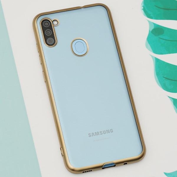 Ốp lưng Galaxy A11 nhựa dẻo Electroplate -Matte OSMIA Gold