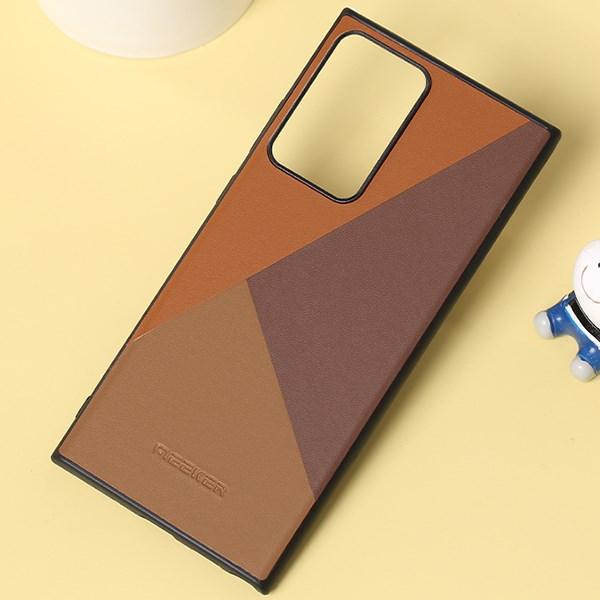 Ốp lưng Galaxy Note 20 Ultra Nhựa cứng viền dẻo Mixed leather Case MEEKER Nâu đồng