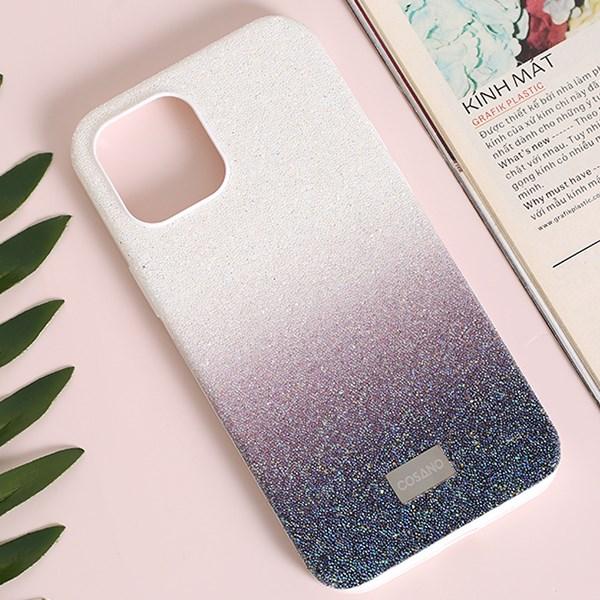 Ốp lưng iPhone 12 Pro Max Nhựa cứng viền dẻo New Crystal TPU Case COSANO Navy