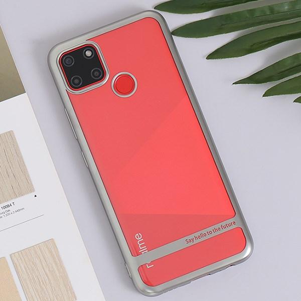 Ốp lưng Realme C12 Nhựa dẻo TPU Electroplating Future COSANO Bạc