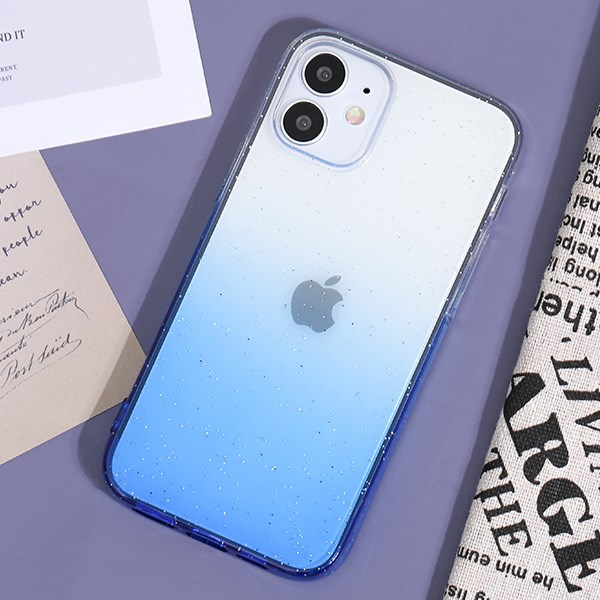Ốp lưng iPhone 12 Mini Nhựa dẻo Shining Powder TPU COSANO Xanh