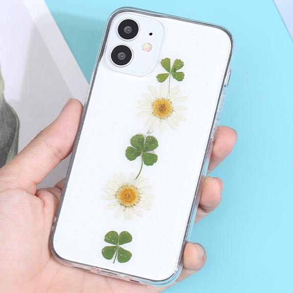 Ốp lưng iPhone 12 Mini Nhựa cứng viền dẻo Dry flower MEEKER CN200727 Cỏ bốn lá