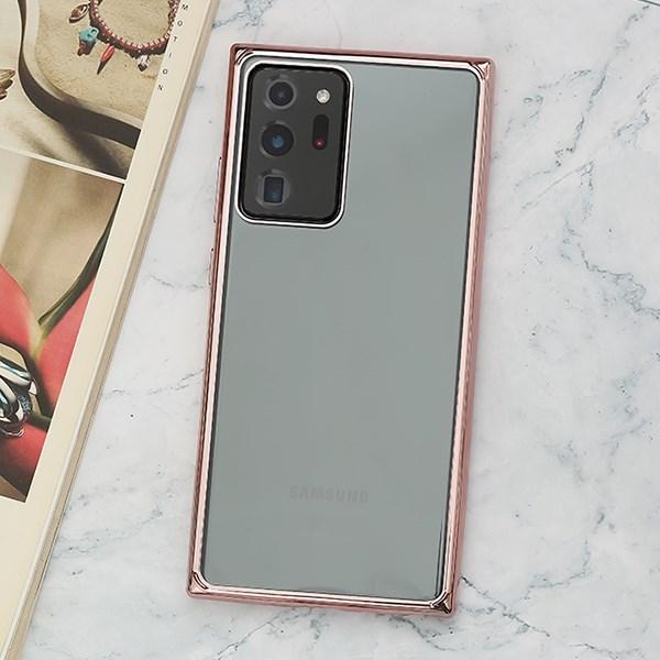 Ốp lưng Galaxy Note 20 Ultra Nhựa cứng viền dẻo Eletroplating TPU PC Case COSANO Đồng