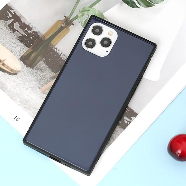 Ốp lưng iPhone 12/ 12 Pro nhựa cứng viền dẻo Tempered Glass-square OSMIA Navy