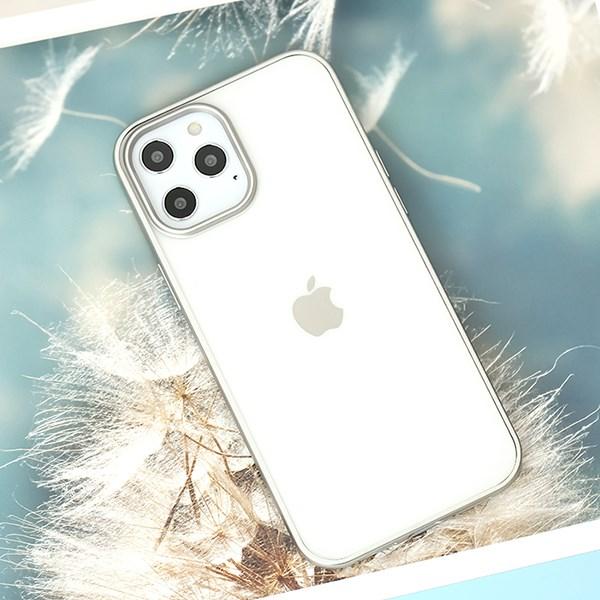 Ốp lưng iPhone 12 Pro Max nhựa dẻo Matte Electroplate OSMIA Bạc