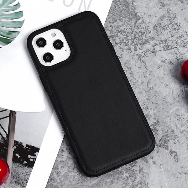 Ốp lưng iPhone 12 Pro Max nhựa cứng viền dẻo PU Candy OSMIA Đen