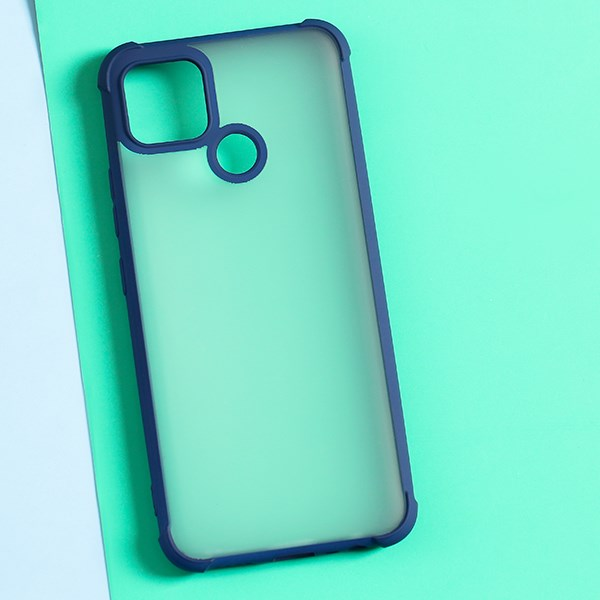 Ốp lưng Realme C12 Nhựa dẻo Paint Anti Shock TPU COSANO Xanh Đậm