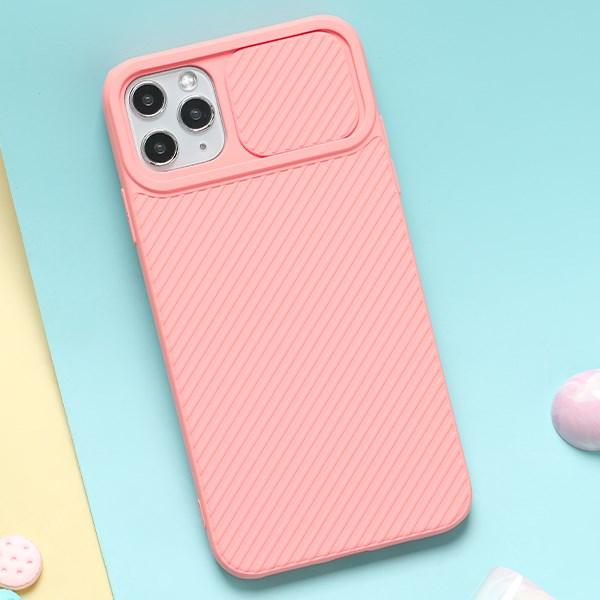 Ốp lưng iPhone 11 Pro Max Nhựa dẻo CARBON CAMO JM Hồng nhạt