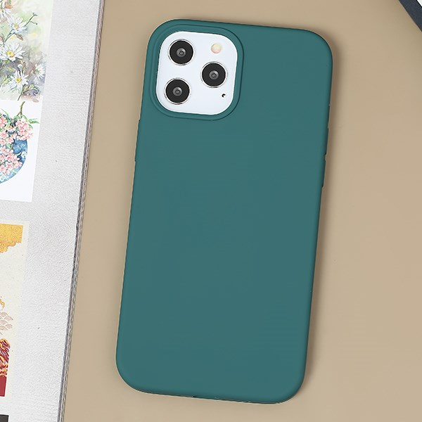 Ốp lưng iPhone 12 Pro Max Nhựa cứng viền dẻo Liquid Silicone Case COSANO Lục Lam