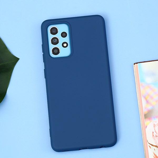 Ốp lưng Galaxy A52 Nhựa dẻo Candy Silicone JM Xanh đậm