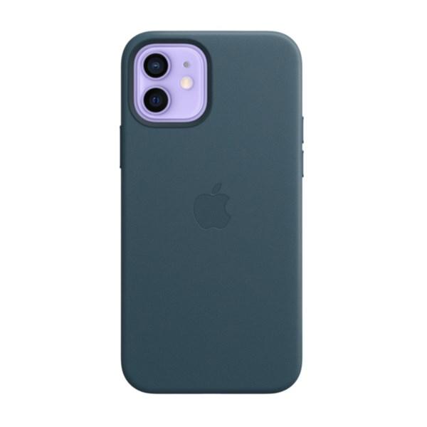 Ốp lưng iPhone 12/12 Pro da Apple MHKE3 Xanh navy